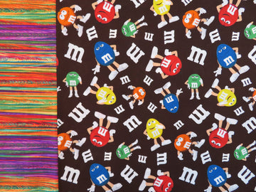 M and M Brown Reversible Handmade Queen Pillowcase