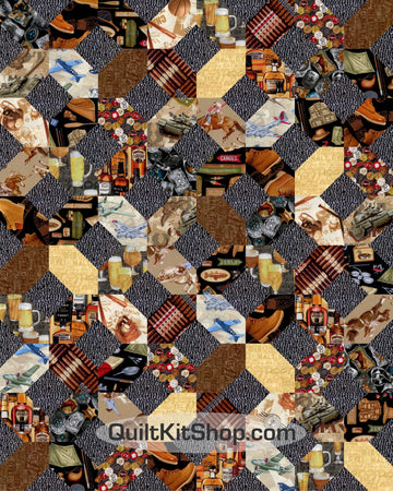 Man Time PreCut 20 Block Quilt Kit