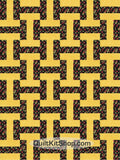 "Midnight Lemon 12 PreCut 12"" Block Quilt Kit"