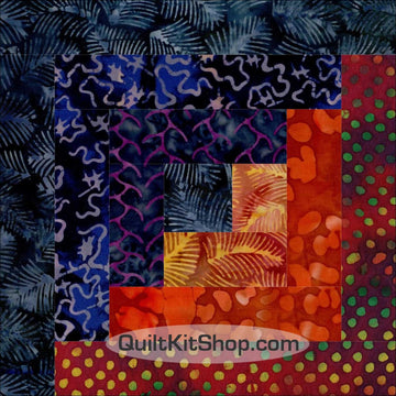Midnight Hour Batik PRECUT Quilt Block Kit