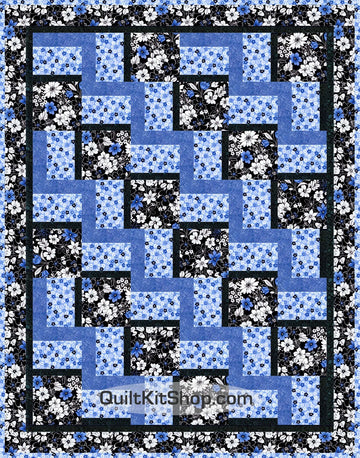 Midnight Floral PreCut Quilt Kit