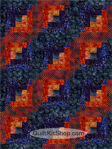 Midnight Hour Batik Pre-Cut 12 Block Quilt Kit