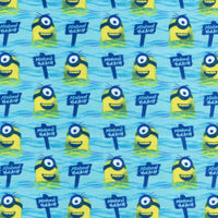 Minions All Natural Beach Blue Quilting Treasures