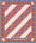 Modern Scramble Furrows Quilt Kit PreCut