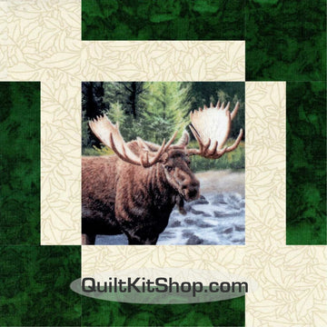 Moose High Country Wilderness PRECUT Quilt Block Kit