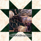 Mountain Elk Wildlife PreCut GROW Quilt Kit