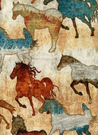 Mustang Sunset Horse Quilting Treasures