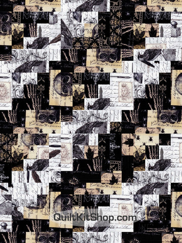 Nevermore Log Cabin Pre-Cut 12 Block Quilt Kit