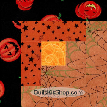 Halloween Nights Pre-Cut 12 Block Quilt Kit