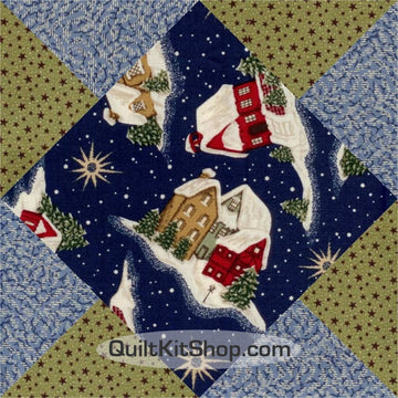 North Pole Pre-Cut 12 Block Quilt Kit