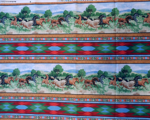 Open Range Horse Stripe Wilmington Prints Fabric