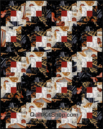 Orchestra Log Cabin PreCut 20 Block Quilt Kit