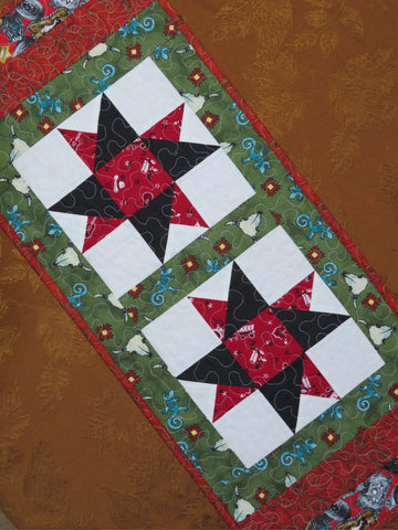 Western Star Quilted Table Runner