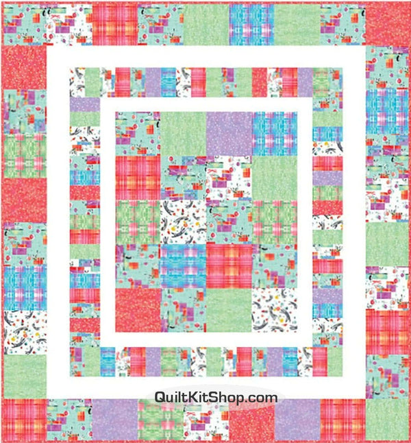 Purrfect Christmas Easy Precut Quilt Kit