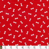 Pampered Pooch Dog Bone Red