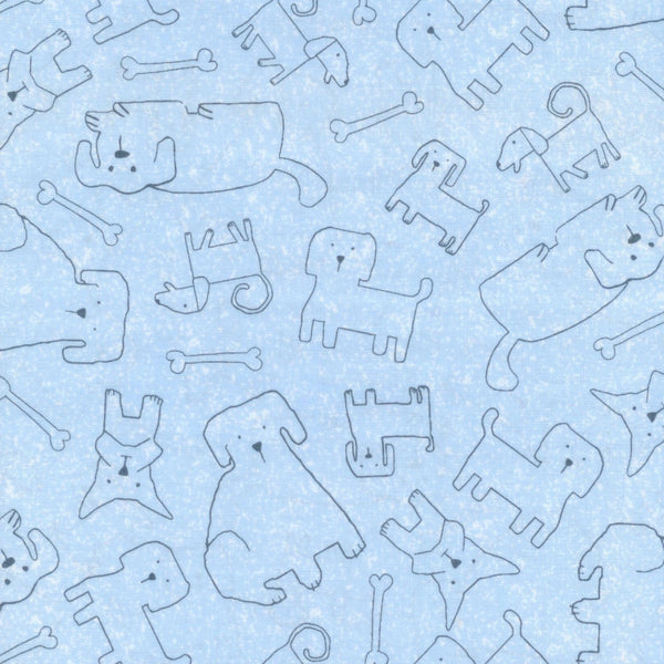 Patches The Dog Blue Hoffman Fabrics