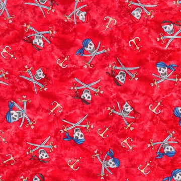 Pirate Treasure Skull Red