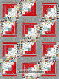 Play Ball Peanuts Baseball PreCut 12 Block Quilt Kit