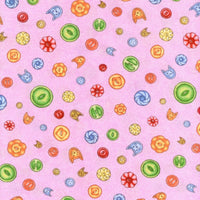 Purrfect Notions Button Pink RJR Fabrics