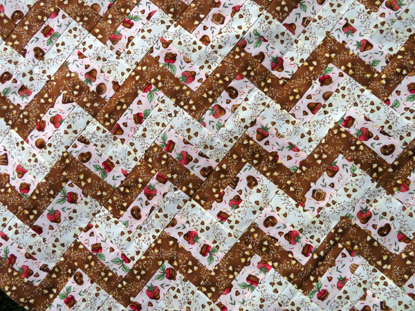 Chocolate Covered Fruit Quilt Top