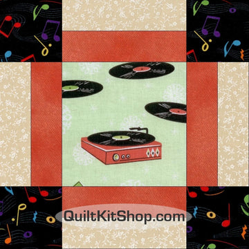 Record Players Vinyl 38 x 47 PreCut Quilt Kit