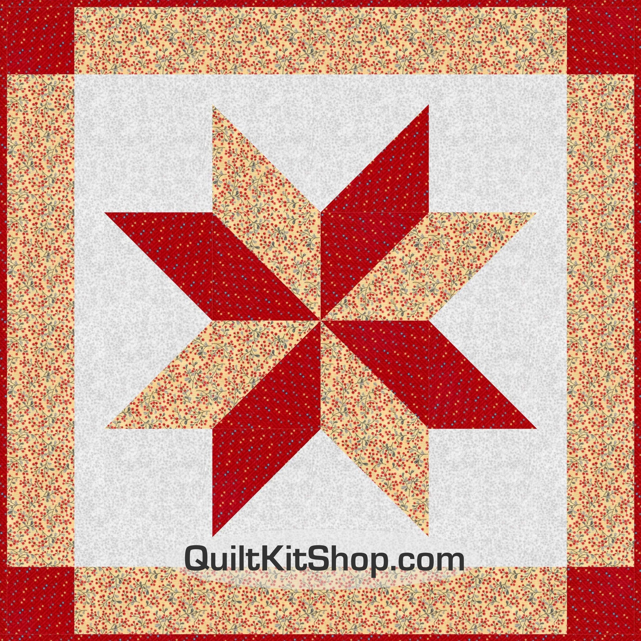 Reflections Red Star Wall Baby Quilt Kit