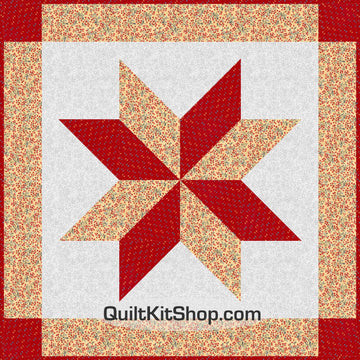 Reflections Red Star Quilt Kit