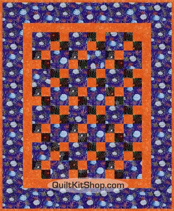 Spider Puff Patches Quilt Kit Precut