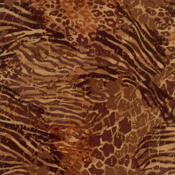 Safari Skin Brown Fabri-Quilt Fabric