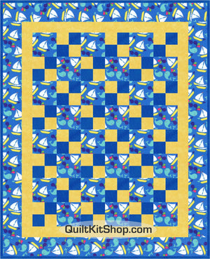 Sail the High Seas Pre-Cut Baby Quilt Top Kit