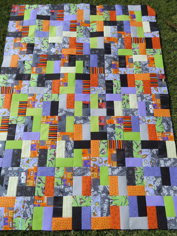 Salem Halloween Handmade Quilt Top