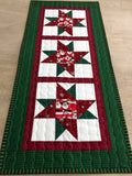 Quilted Table Runner Christmas Santa Reversible