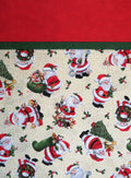 Christmas Santa Reversible Handmade Pillowcase