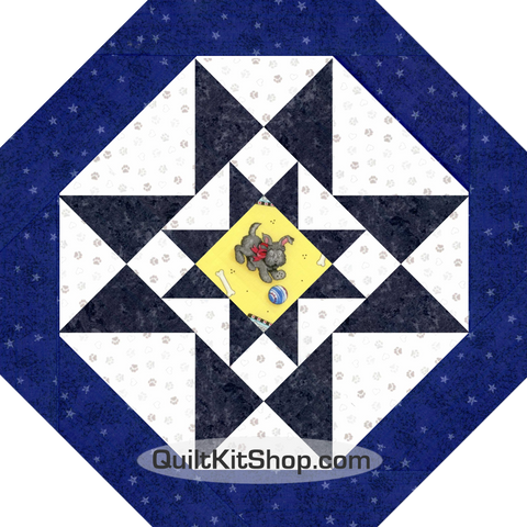 Scottish Terrier Dog Octagon Table Topper Quilt Kit
