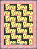 Scottie Dog Yellow Pre-Cut Quilt Kit
