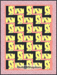 Scottie Dog Yellow 43 x 57 PreCut Quilt Kit