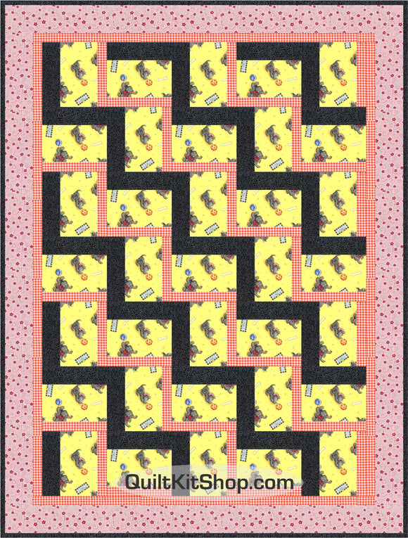 Scottie Dog Yellow PreCut Quilt Kit