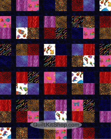 Secret Jungle PreCut 20 Large Block Quilt Kit
