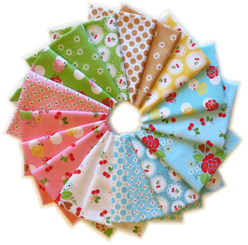 Sew Cherry Pre-Cut 18 Fat Quarter Bundle