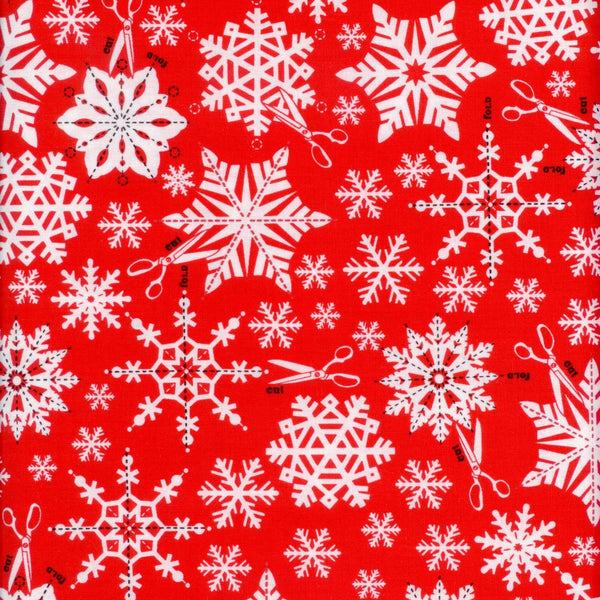 Snowflakes Scissors Swell Noel Red