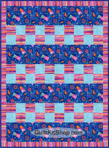 Space Cats Easy PreCut Quilt Kit