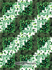 St Patrick's Day Pre-Cut 12 Block Quilt Kit