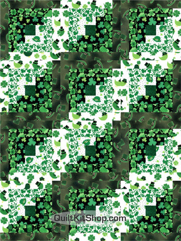 St Patrick's Day PreCut 12 Block Quilt Kit