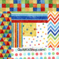Stonehenge Geometric Pre-Cut 12 Block Quilt Kit