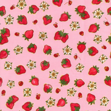 Strawberry Shortcake Berries Pink Spectrix Fabric