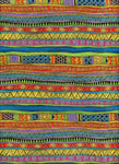 Stripe Metallic Bright BTHY Fabric Laurel Burch