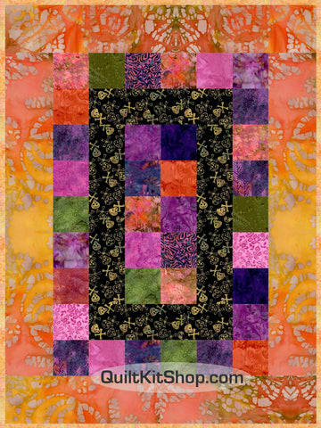 Sunken Treasure Batik 39 x 52 PreCut Quilt Kit