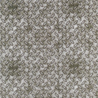 Textured Metal Diamond Plate Gray Quilting Treasures