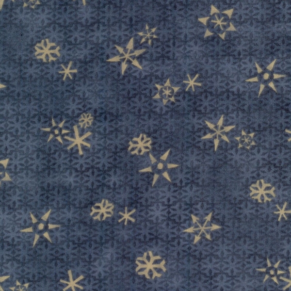 Too Many Men Snowflakes Gray Red Rooster Fabric