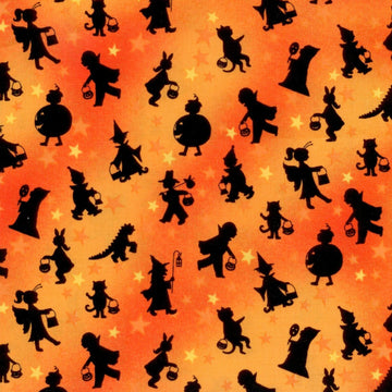 Tricks & Treats Silhouette Orange